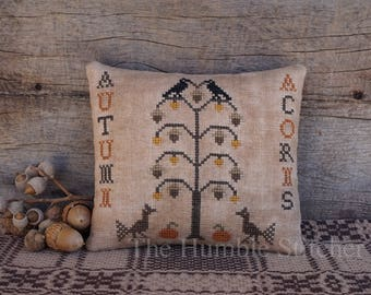 Autumn Acorns...Primitive PDF Cross Stitch Pattern By The Humble Stitcher