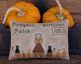 Pumpkin Patch...Primitive PAPER Cross Stitch Pattern By The Humble Stitcher