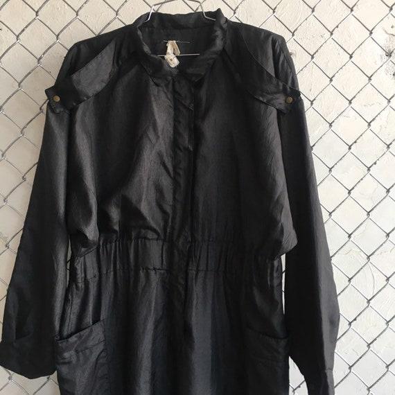 Black Nylon Boss AF Nylon Jumpsuit - Medium / Larg