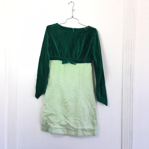 Precious Velvet Top Green Fairytale Dress with Poi