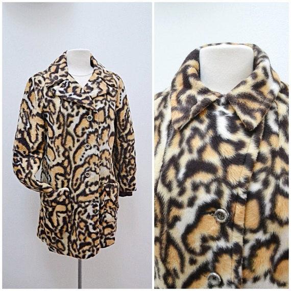 1960s Ocelot print faux fur Sharpee short coat / 6
