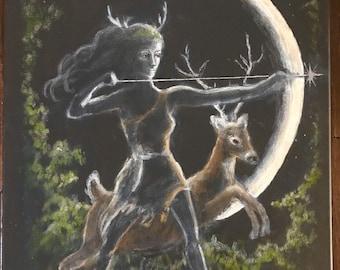 Artemis Diana Goddess painting