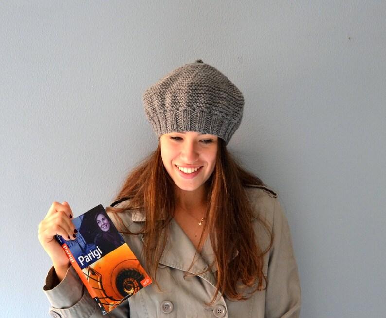 Basco grigio per donna cappello fatto a mano Accessori Donna  acdf6c9a955e