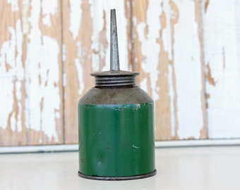 Vintage Green Thumb Pump Oil Can