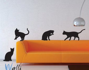 Cats wall art decals for room decor