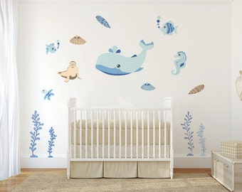 Kids and nursery wall decals –  Bunnies in air balloons