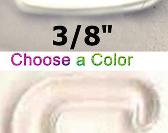 "3/8"" Plastic Bikini S-Hook G-Hook Lingerie Bra Clasp Swimsuit Strap Swan Sewing Hook Clip Closure Swimwear Costume Notions Bathing Suits"
