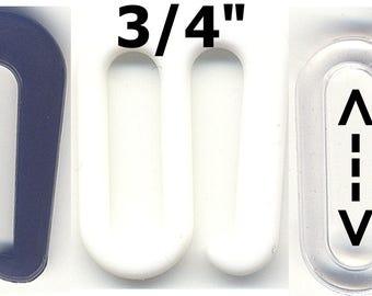 "3/4"" Plastic Bikini S-Hook G-Hook Lingerie Bra Clasp Swimsuit Strap Sewing Clip Closure Swimwear Costume Notion BathingSuit Swan Sewing Hook"