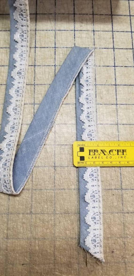 Par Par Par le rouleau livre 150 Yd coton Denim Poly blanc Motif dentelle par le rouleau livre Hobby Lobby passementerie artisanat Vintage 74489a