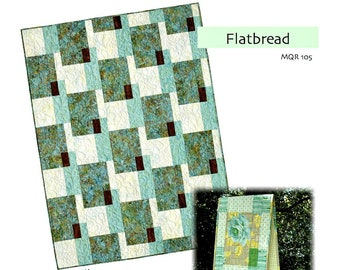 "Quilt Pattern ""Flatbread"" Modern Quilt Relish Pieced Quilt Project Table Runner Throw Queen Size Template DIY Quilt"