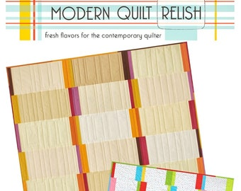 "Quilt Pattern ""Cutlery"" Modern Quilt Relish Pieced Quilt Project Table Runner Crib Throw Queen Size Template DIY Quilt"