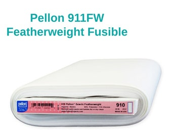 Pellon 911FW Featherweight Fusible Stabilizer By the Yard Lightweight Interfacing Backing for Applique Home Decor Crafting Apparel