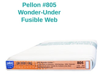 Pellon 805 Wonder Under Paper Backed Fusible Paper-Backed Web By the Yard Interfacing Stabilizer for Applique Home Decor Crafting Apparel