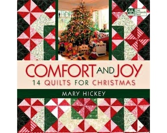 "QUILT BOOK ""Comfort and Joy"" by Mary Hickey 14 Quilts for Christmas Holiday DIY Projects Pieced and Applique Quilt Templates Patterns"