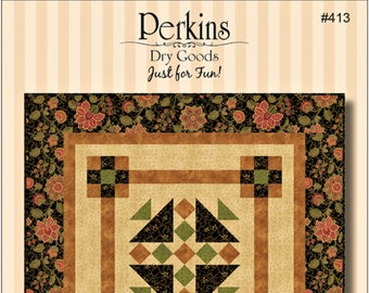 "Quilt Pattern ""Camelot"" by by Perkins Dry Goods Wall Quilt Hanging Pieced DIY Quilt Project Paper Pattern"