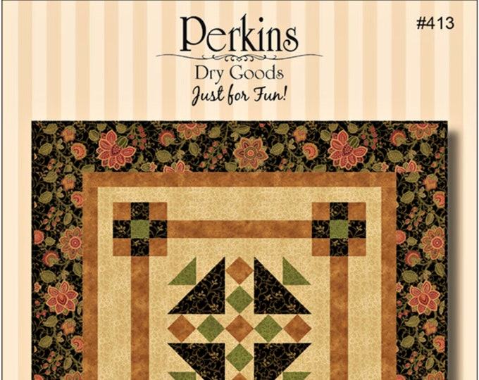 """Quilt Pattern """"Camelot"""" by by Perkins Dry Goods Wall Quilt Hanging Pieced DIY Quilt Project Paper Pattern"""