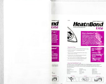 Therm-O-Web Heat 'n' Bond Lite By the Yard Lightweight Paper-Backed Stabilizer Backing Interfacing for Applique Home Decor Crafting Apparel