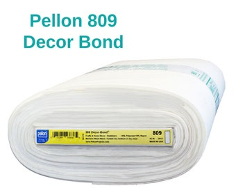 Pellon 809 Decor Bond Non-Woven Fusible Stabilizer By the Yard Firm Backing Interfacing for Applique Home Decor Crafting Apparel
