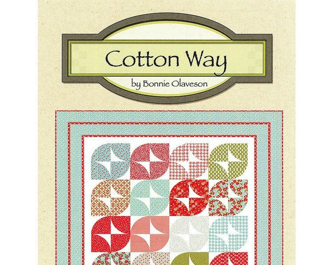 "Quilt Pattern ""Wish"" Cotton Way Bonnie Olaveson Layer Cake Ten-Inch Squares Friendly Applique Project Lap Throw Size Template DIY Quilt"