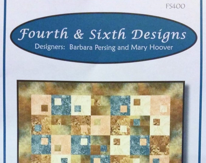 "Quilt Pattern ""Habitat"" Fourth & Sixth Designs Pieced Quilt Project Fat Quarter Friendly Throw Twin Queen King Size Template"