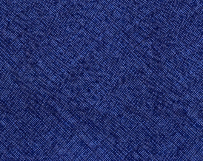 Fabric by the Yard Timeless Treasures Hatch Night Navy Blue Cotton Quilting Fabric Tone on Tone Blender Home Decor Apparel