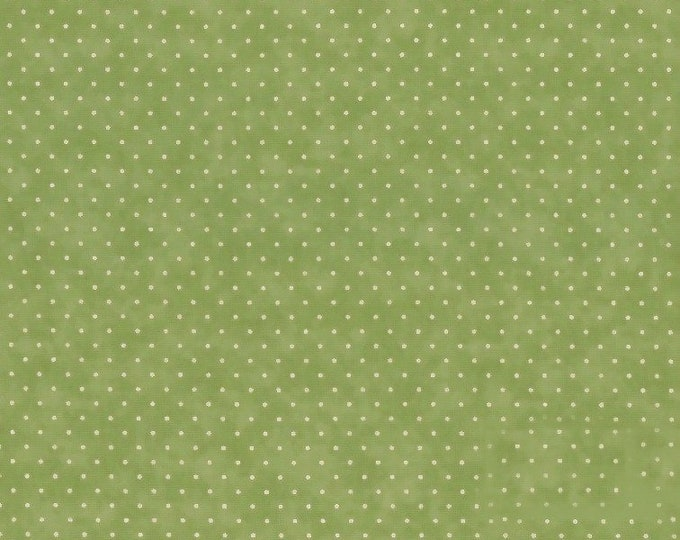 Fabric by the Yard Moda Essential Dots Sage Cotton Quilting Fabric Nursery Baby Kids Cute Polka Dot Fabric Crafting Home Decor