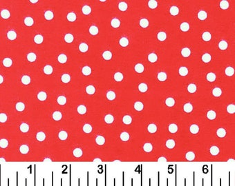 One Yard Remnant Robert Kaufman Fabrics Ann Kelle Remix Polka Dots Red Cotton Quilting Fabric Destash Home Decor Apparel Crafting