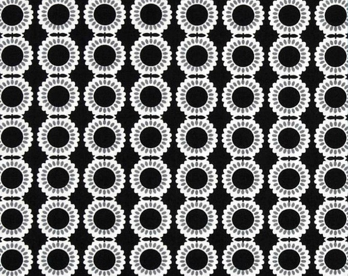 Fabric by the Yard Moda Fabrics Weeds Dandelion Quilting Fabric Cotton Fabric Sewing Black and White Geometric Print