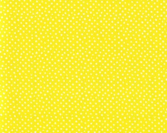 One-Half Yard Dear Stella Mini Confetti Dots Sun Yellow Cotton Quilting Fabric Remnant Destash Whimsical Polka Dot Nursery Crafting