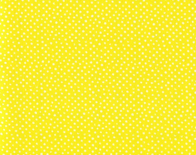 One-Half Yard Dear Stella Mini Confetti Dots Sun Yellow Cotton Quilting Fabric Remnant Destash Whimsical Polka Dot Nursery Crafting
