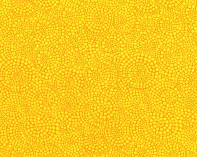 Fabric by the Yard Timeless Treasures Pop Cotton Quilting Fabric Abstract Print Sewing Whimsical Yellow Gold Crafting Home Decor
