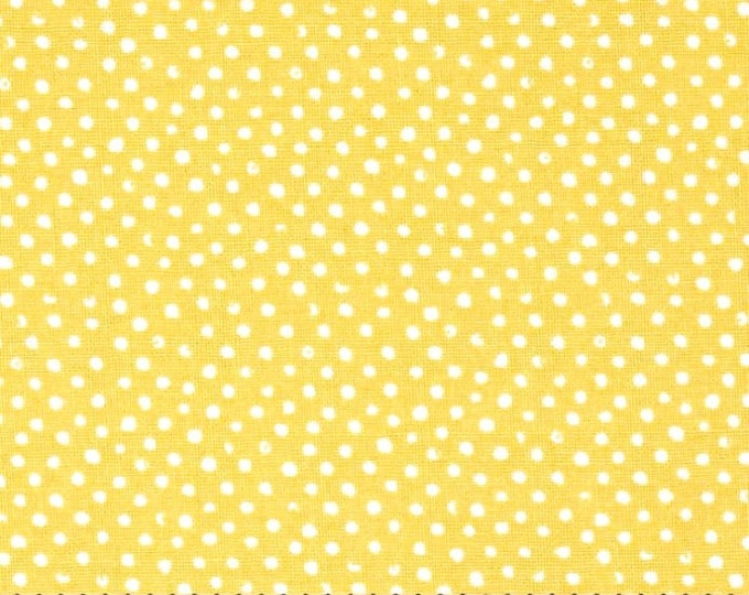 One-Half Yard Remnant Dear Stella Mini Confetti Dots Gold Cotton Quilting Fabric Whimsical Polka Dot Autumn Crafting Home Decor