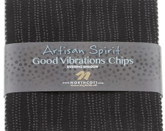 Five Inch Squares Charm Pack Northcott Fabrics Artisan Spirit Good Vibrations Evening Shadow Cotton Quilting Fabric Bundle Stacker Precut