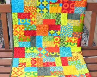 Handmade Quilts For Sale Colorful Modern Quilts Rainbow Kids Geometric Quilted Throw Free Shipping Home Decor Lap Quilt  Patchwork Quilt