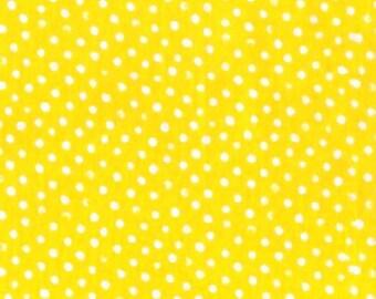 Dear Stella Confetti Dots Fabric by the Yard Sun Yellow Cotton Quilting Fabric Whimsical Polka Dot Kids Blender Tonal Crafting Home Decor