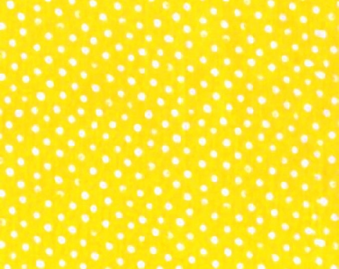 Dear Stella Confetti Dots Fabric by the Yard Sun Yellow Cotton Quilting Fabric Whimsical Polka Dot Kids Blender Tonal Crafting Home Decor