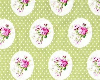 One Yard Tanya Whelan Free Spirit Fabrics Sunshine Roses Old Time Rose Remnant Cotton Quilting Fabric Floral Print Cream Ivory Destash
