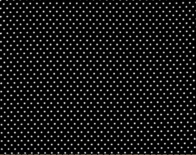 One Yard Remnant Timeless Treasures Pin Dots Black and White Cotton Quilting Fabric Halloween Home Decor Crafting