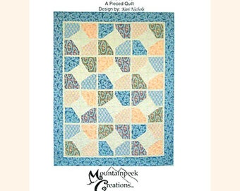 """Quilt Pattern """"Abbey Star"""" Kari Nichols Mountainpeek Creations Pieced Quilt Project Lap Twin Queen King Size Template"""