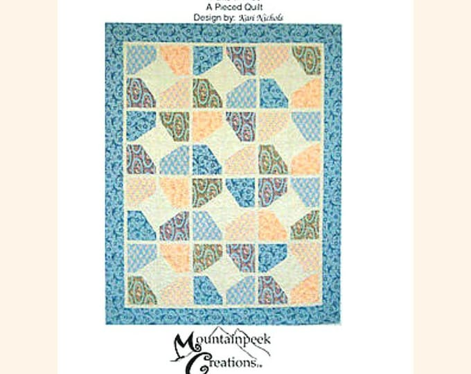 "Quilt Pattern ""Abbey Star"" Kari Nichols Mountainpeek Creations Pieced Quilt Project Lap Twin Queen King Size Template"