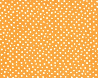 One and One-Half Yards Remnant Dear Stella Confetti Dots Cantaloupe Orange Cotton Quilting Fabric Polka Dot Autumn Fall Crafting Home Decor