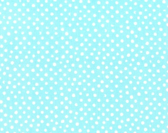Fabric by the Yard Dear Stella Confetti Dots Blue Cotton Quilting Fabric Whimsical Polka Dot Nursery Baby Boy Crafting Home Decor Blender