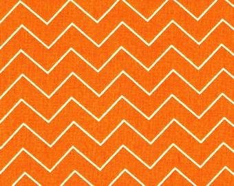 Dear Stella Fabric by the Yard Zig Zag Orange Chevron Cotton Quilting Fabric Halloween Whimsical Autumn Fall Crafting Home Decor