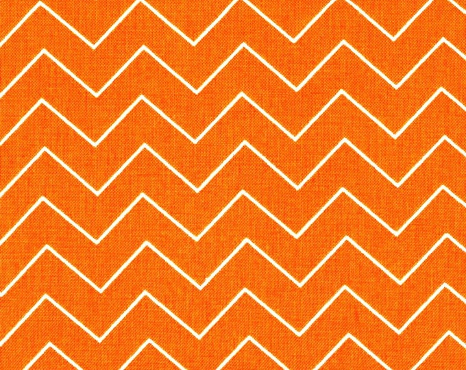 Dear Stella Fabric by the Yard Zig Zag Orange Chevron Cotton Quilting Fabric Halloween Whimsical Autumn Fall Crafting Home Decor