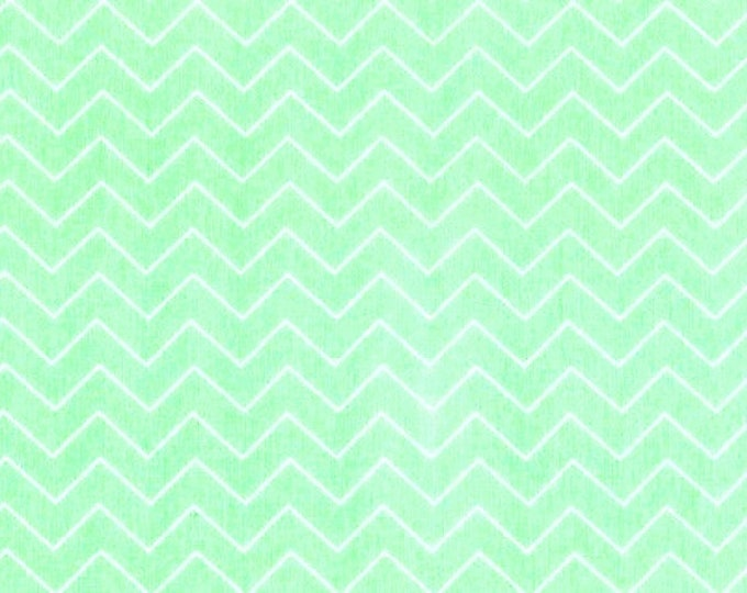 Fabric by the Yard Dear Stella Zig Zag Mint Cotton Quilting Fabric Nursery Baby Chevron Whimsical Geometric Crafting Home Decor