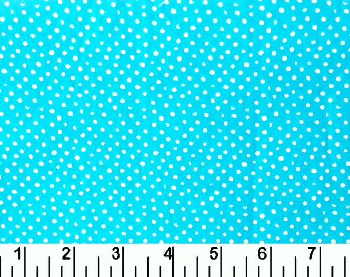 One-Half Yard Remnant Dear Stella Mini Confetti Dots Turquoise Cotton Quilting Fabric Remnant Destash Polka Dot Nursery Crafting Home Dec