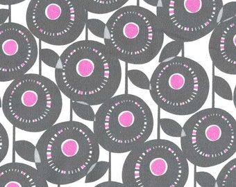One Yard Michael Miller Fabric Pastel Pop Aretha Orchid Remnant Cotton Quilting Fabric Grey Gray Apparel Destash