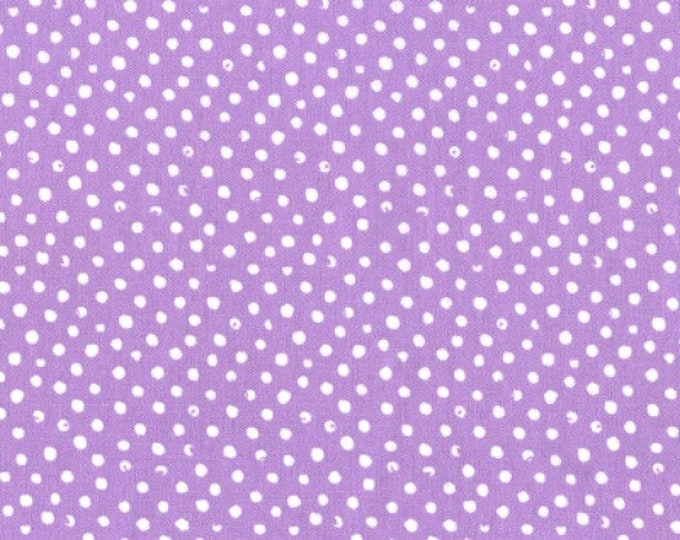 Dear Stella Confetti Dots Fabric by the Yard Lilac Lavender Cotton Quilting Fabric Whimsical Baby Nursery Girl Home Decor Blender Fabric