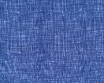 Fabric by the Yard Timeless Treasures Sketch Denim Blue Cotton Quilting Fabric Tone on Tone Blender