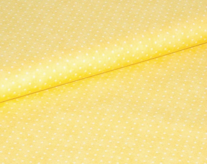 Fabric by the Yard Moda Basics Essential Dots Yellow Cotton Quilting Fabric Sewing Nursery Polka Dot Baby Crafting Home Decor